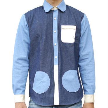 【こども服】2次元ポケットしゃつ。 デニム
