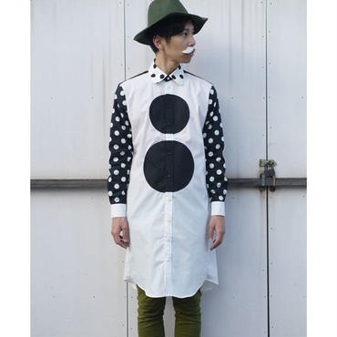 かくかく○○ロングシャツ  ~モノトーン~