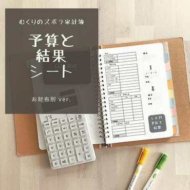 【お財布別】予算と結果シート1年分
