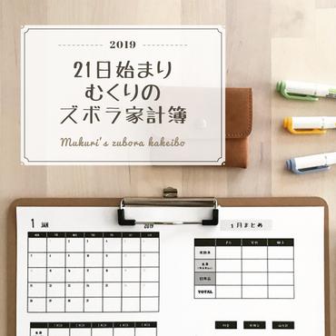 【21日始まり】むくりのズボラ家計簿2019