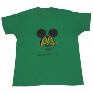 1980's ミッキー&マクドナルド t-shirts    実寸(M)