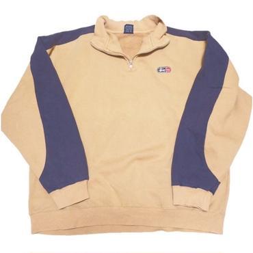 1990's STUSSY ハーフジップスウェット(超ナイスカラー)  表記(L)