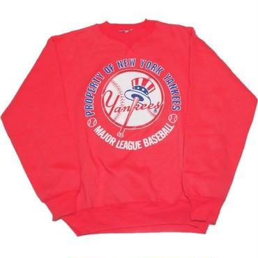 1990's〜2000's NYヤンキース   スウェット 【レアカラー ピンク】表記(M)