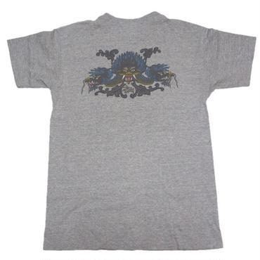 1990's USA製 STUSSY ドラゴン t-shirts  表記(L)