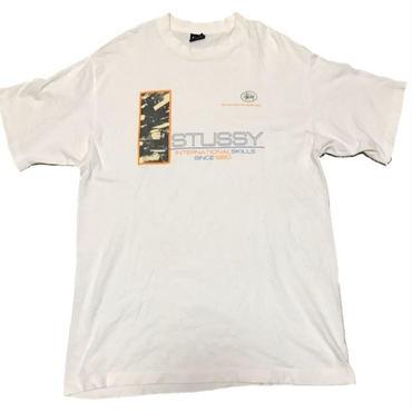 1990's  USA製 STUSSY  「DJ」T- shirts  表記 L