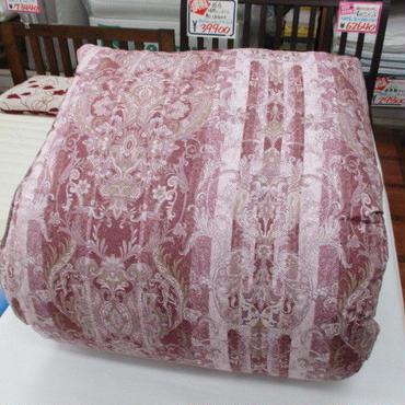 ポーランド産ホワイトグース93% 高級羽毛ふとん(シングル:ピンク)