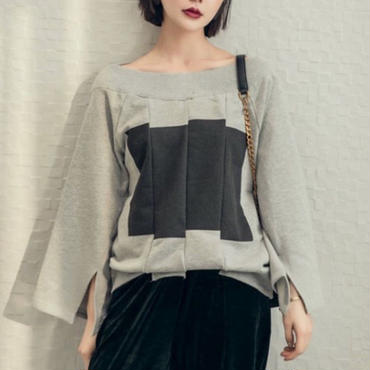 <即納>Offshoulder design cutsew