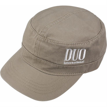 DUO刺繍ロゴ ワークキャップ/ベージュ