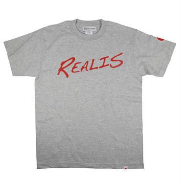 REALIS ロゴTシャツ グレー