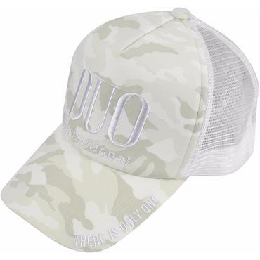DUOロゴメッシュキャップ/ ホワイトカモ