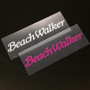 BeachWalker ロゴ転写シール(ピンク・ホワイト)18×140mm