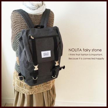 新作☆NOLITA シンプル リュックサック バッグ チャコール 1501