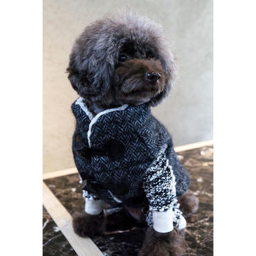 Herringbone Wool Vest   <ヘリンボーンウール  シルク混消臭中綿入りベスト>