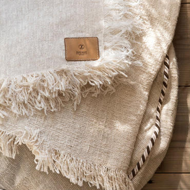 "Organic Cotton ""Garabou""×Hemp  Blanket S"