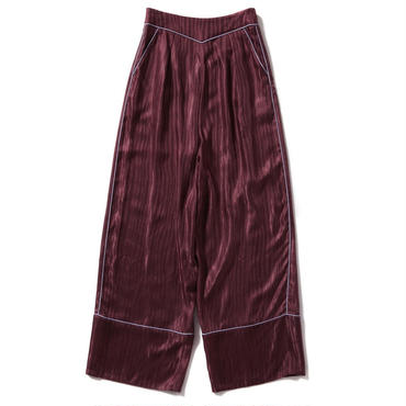 ZEBRA JACGARD WIDE PANTS【WOMENS】