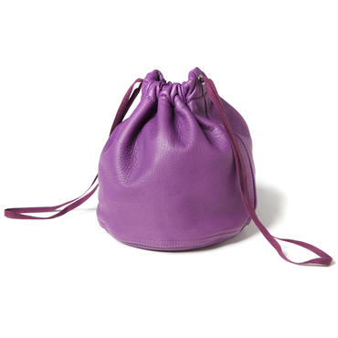 MILITARY LEATHER PURSE (PURPLE)