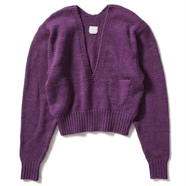 HAND KNITTING SWEATER V NECK 【WOMENS】