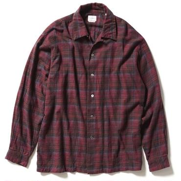 FLANNEL CHECK OPEN COLLAR SHIRT