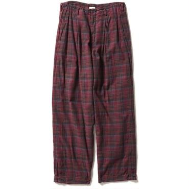 FLANNEL CHECK TROUSER