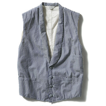 SHAWL COLLAR STRIPE VEST【WOMENS】