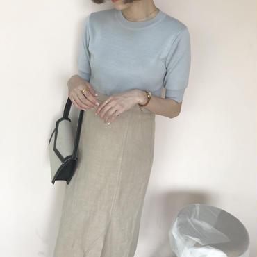 SS クルー knit【5月中旬より順次発送】