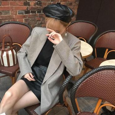 leatherベレー【12月中旬より順次発送】
