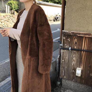 ノーカラームートンボアコート【1月上旬より順次発送】