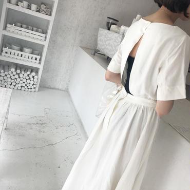 back open linen OP【6月中旬より順次発送】