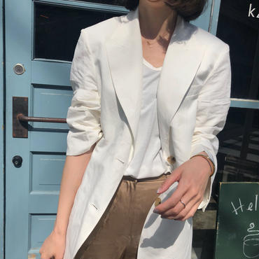 Linen × Cotton JK【5月中旬より順次発送】