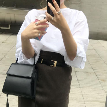 Back openコットンブラウス【10月中旬より順次発送】