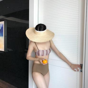 NUE Swim // stripe 【6月中旬より順次発送】