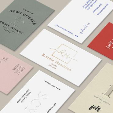 名刺デザイン 息を呑むほど美しいシンプルな名刺・カードを制作します