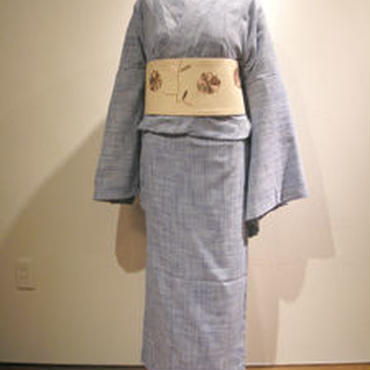 【京・木棉 乙】仮絵羽 近江麻 ブルー