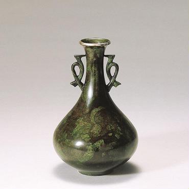旧022-02 花瓶 淀(鳥耳付)