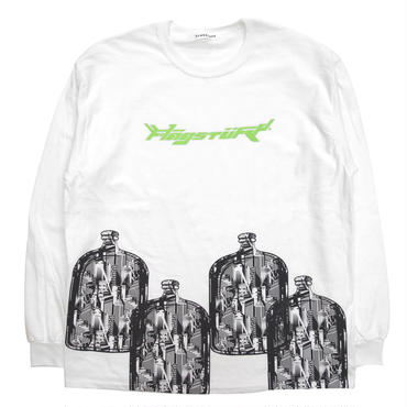 "F-LAGSTUF-F / ""Bottled city"" L/S Tee 2 (white)"