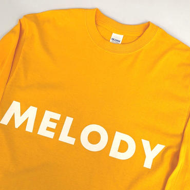 "tr.4 suspension / ""MELODY LIFE"" L/S tee (gold)"
