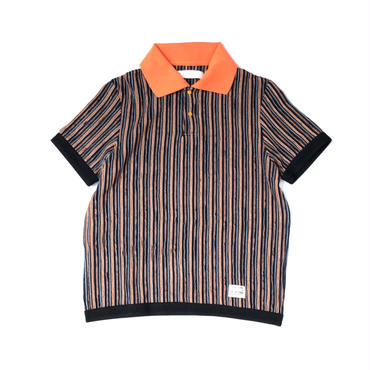 R.M GANG / RIPPLE STRIPE POLO (orange)