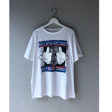 THREE FACE / SS crew neck T-shirts -TEE13-  (white)