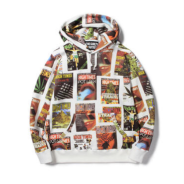 WACKO MARIA / HIGHTIMES x WACKOMARIA HEAVY WEIGHT PULLOVER HOODED SWEAT SHIRT (type-1)(white)
