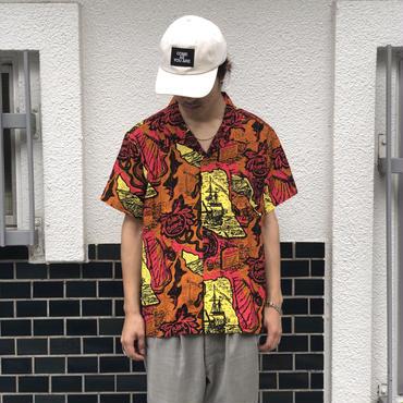THREE FACE / teach hawaiian shirts  (yellow)