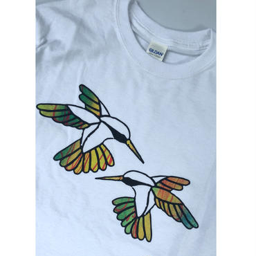"tr.4 suspension / ""Humming Bird"" EDITION Print L/S Tee(size S) #7"