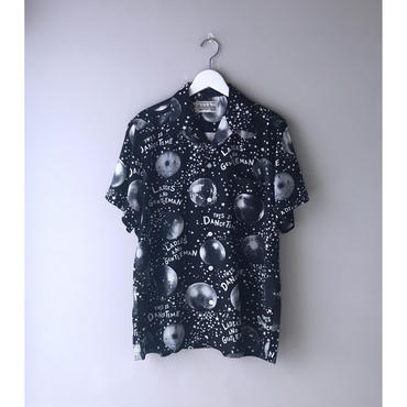 "WACKO MARIA / ""MIRROR BALL""  S/S HAWAIIAN SHIRTS (black)"