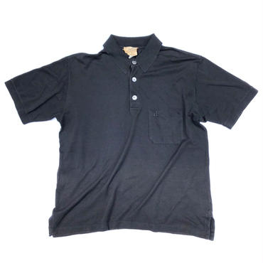 HERMES /  Pocket  S/S Polo Shirt  (black) (spice)