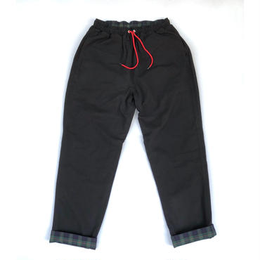 THREE FACE / REVERSIBLE EASY PANTS (black)
