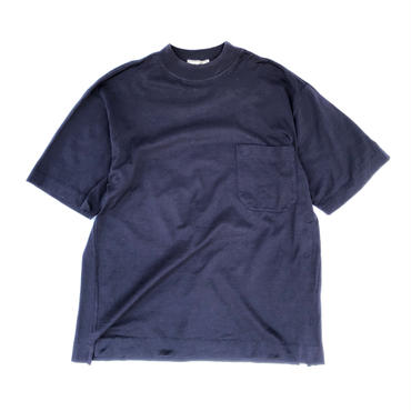 HERMES / High Neck Pocket T-shirts (navy) (spice)