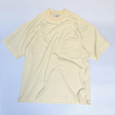 "HERMES / High Neck Pocket T-shirts ""Dead Stock""(natural) (spice)"