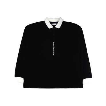 F-LAGSTUF-F / L/S polo shirts (black× white)