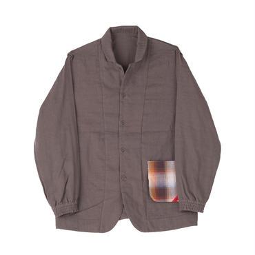 PHINGERIN / night shirt gauze(khaki)