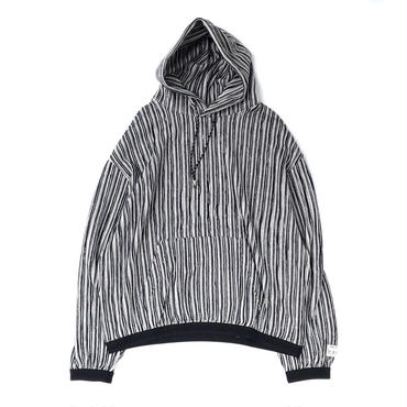 R.M GANG / RIPPLE STRIPE PARKA (black)