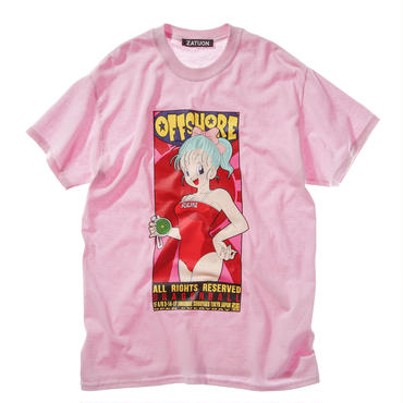 offshore × DRAGON BALL × ZATUON / Poster Tee (pink)